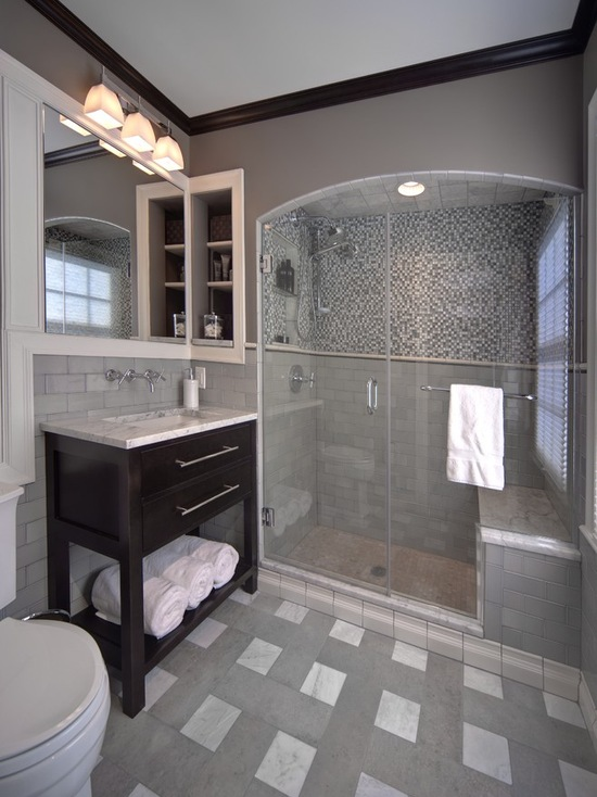 Chic ideas for small bathrooms with shower on Small Bathroom Ideas With Shower id=27124