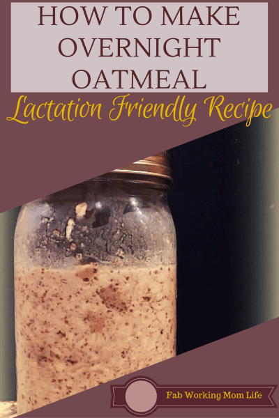 Make this super easy overnight oatmeal lactation breakfast. A healthy breastfeeding-friendly breakfast.