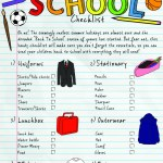 Back to School Free Printable Checklist