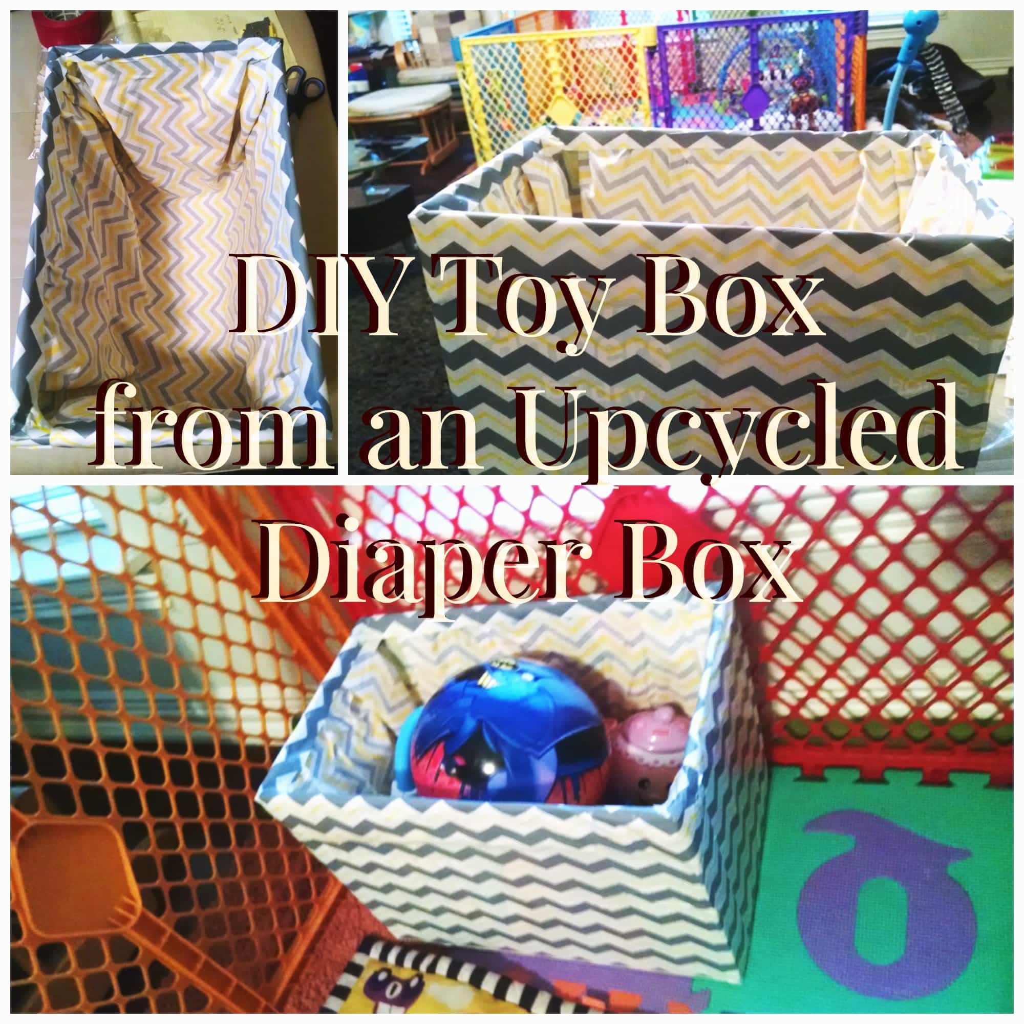 DIY Toy Box, Upcycle a Diaper Box