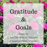 Gratitude and Goals August 2017 #GratitudeGoals