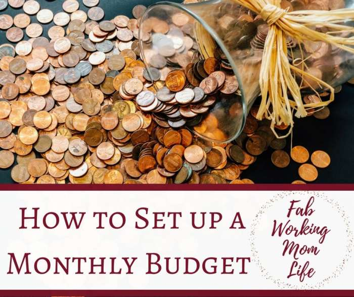 how to set up a monthly budget