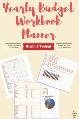 Grab your Yearly Budget Workbook Planner today