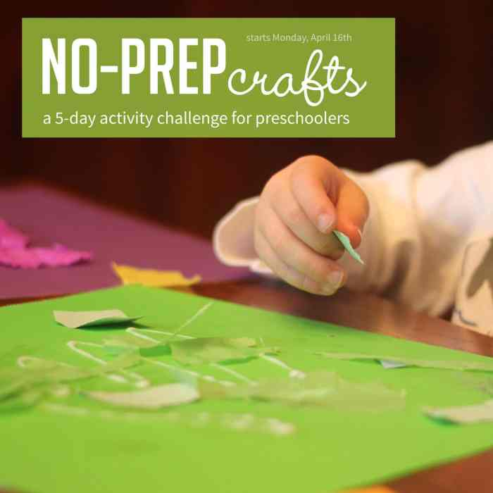 No Prep Toddler and Preschooler Craft Challenge
