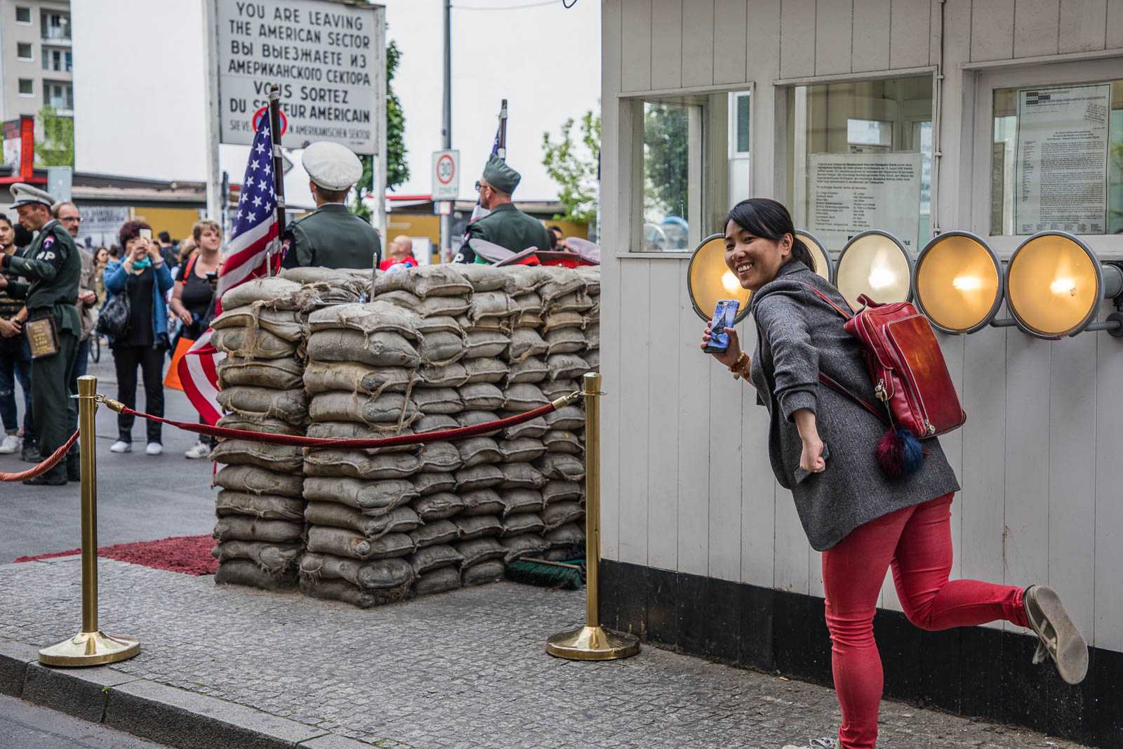 Run away from Checkpoint Charlie