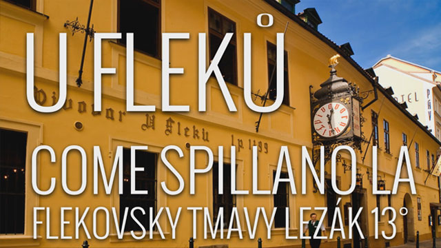 Come spillano la birra all'u Fleku di Praga