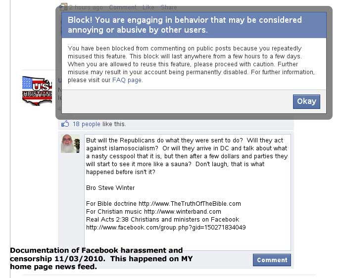 facebookcensorship.org  more Facebookl censorship