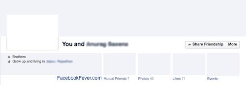 Facebook Friendship Page