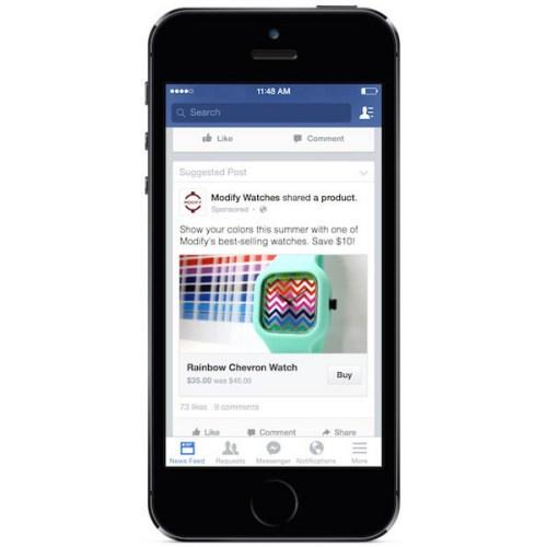 Facebook Testing  Buy Button