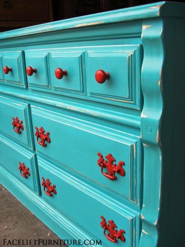 Turqouise Dresser Paprika Pulls Facelift Furniture