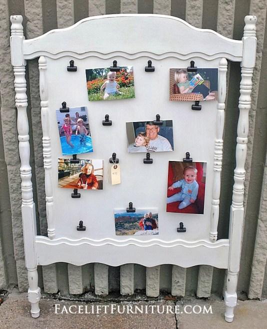Crib Headboard White Photo Display