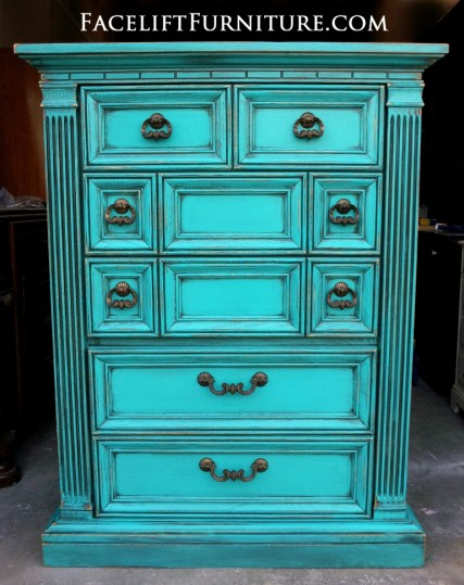 Turquoise CHest of Drawers from Facelift Furniture