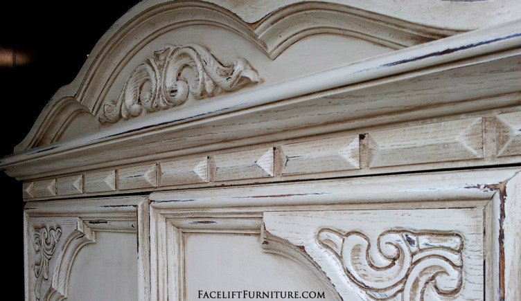 Off White Chunky Armoire Top
