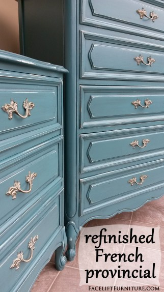Refinished French Provincial ~ Facelift Furniture DIY Blog