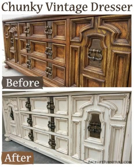 Chunky Vintage Dresser - Before & After