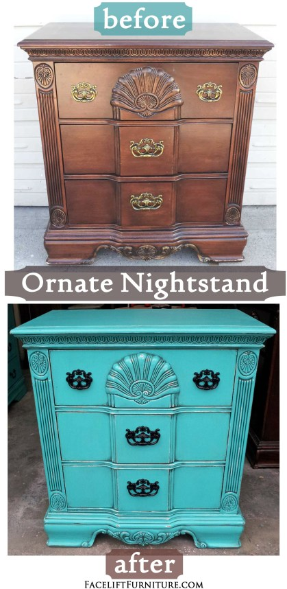 Ornate Nightstand Before & After