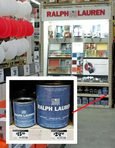 Home Depot Ralph Lauren Display & Cans