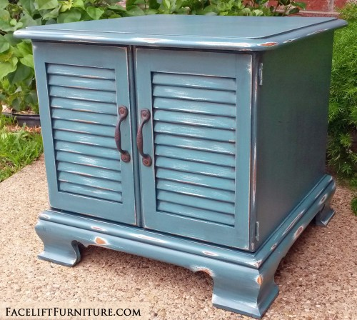 Sea Blue Maple End Table FLF