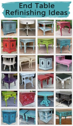End Table Refinishing Ideas from Facelift Furniture