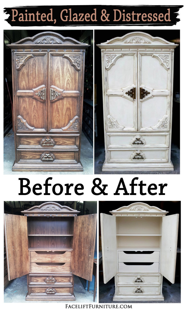 Off White Clothing Armoire Before & After
