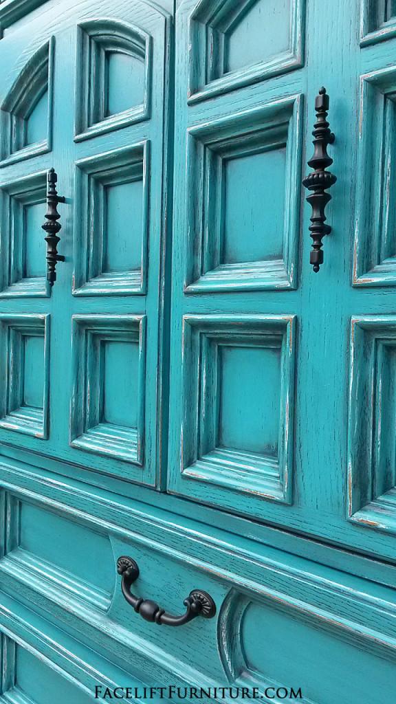 Turquoise Amoire Door