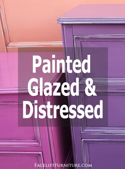 Color outside the box with paint, glaze and distressing. Inspiration from Facelift Furniture's DIY Blog