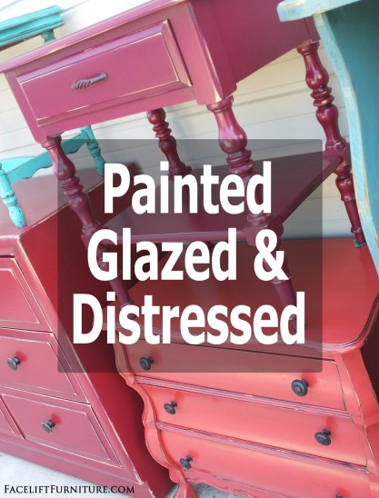 Let color transform your weary, old furniture with paint, glaze and distressing. From Facelift Furniture's DIY blog.