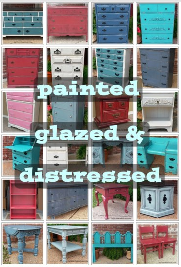 Painted, glazed & distressed furniture inspiration from Facelift Furniture's collections.