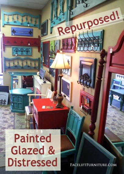 The limitless options of paint colors and old furniture pieces. From Facelift Furniture's DIY blog.