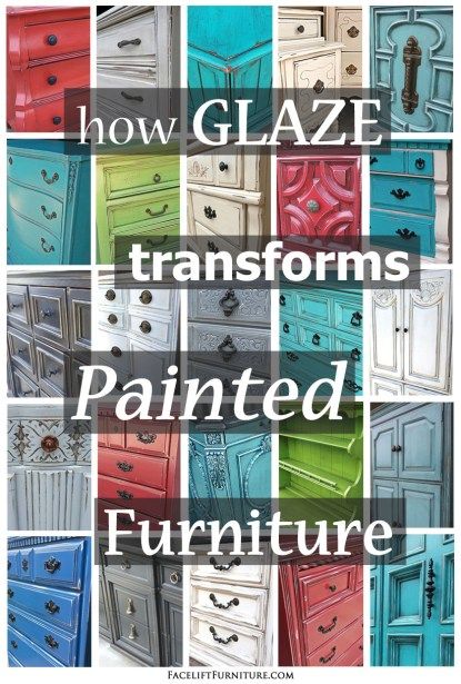 How Glaze Transforms Painted Furniture - From Facelift Furniture's DIY Blog