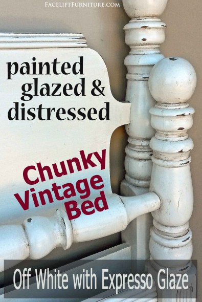 How paint, glaze, and distressing add charm to chunky furniture. From Facelift Furniture's DIY Blog