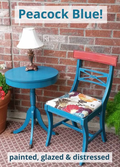 The transforming look of Peacock Blue! DIY furniture inspiration from Facelift Furniture.