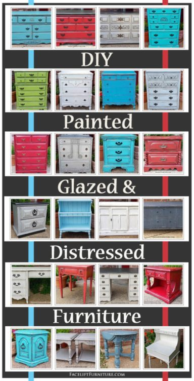 DIY Furniture Ideas from Facelift Furniture. Visit the collections in our Portfolio for inspiration for your next painted, glazed, and distressed furniture project.