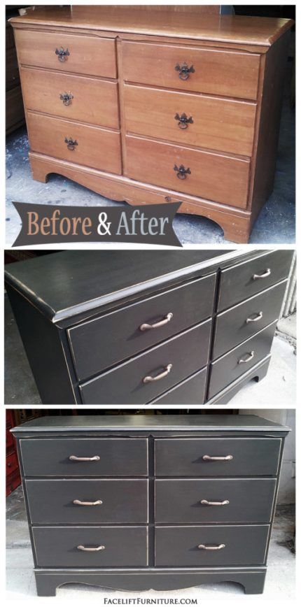 Maple Dresser in Distressed Black - DIY Inspiration from Facelift Furniture!