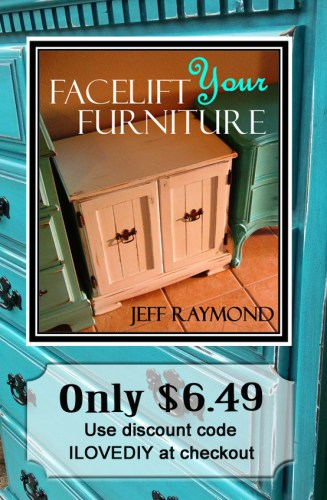 Facelift Your Furniture DIY ebook only $6.49 with discount code ILOVEDIY!