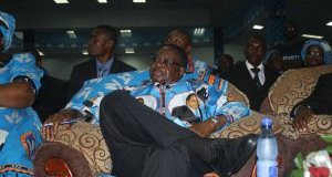 Peter Mutharika listening attentively to the Malawi Electoral Commission's official results