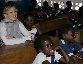 madonna in school malawi