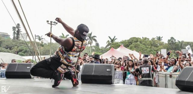 Nyovest performing