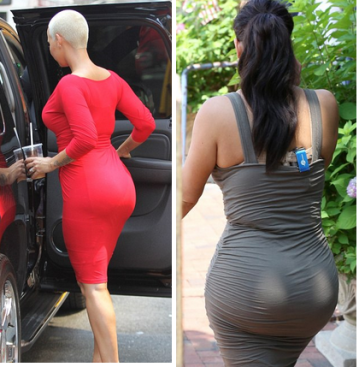 Amber-Rose-v-Kim-Kardashian-Ass-curves