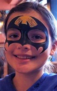 Bat girl face painting El Rancho Nuevo