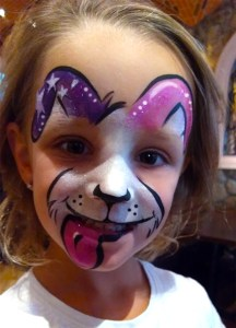 Dog face painting  El Rancho Nuevo Cincinnati Ohio