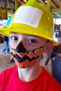 Pumpkin Face painting Bonnybrook Farm Clarksville Ohio