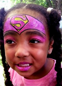 Spectrum Picnic Super Girl Face Painting