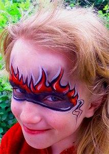 Human Torch Avengers Fabulous 4 Face Paiting Cincinnati