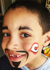 Cincinnati Reds Logo Face Painting