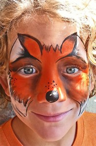Face Painting, fox, Cincinnati Ohio