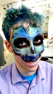 Male-Color-Skull Halloween face painting