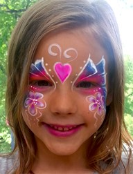 Beautiful-Butterfly Cincinnati Playhouse Summer Camp face painting