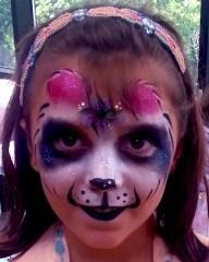 Queen-Panda face painting Cincinnati Playhouse