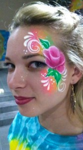 Rose face painting After Proms